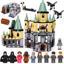 Купить с кэшбэком 1033Pcs 16029 Model building kits compatible with lego Harry Potter Bricks Magic Hogwort Castle 3D blocks model building toy