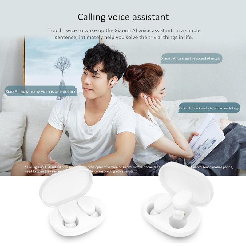 Image 3 - Xiaomi Mi AirDots TWS Stereo Wireless Headset Bluetooth Earphone Youth Version Mijia  Bass Headphone Headset With Mic Handsfree-in Bluetooth Earphones & Headphones from Consumer Electronics