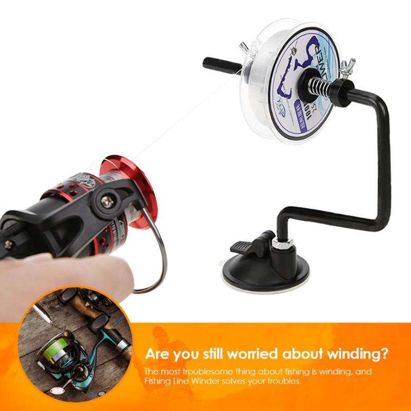Portable Aluminum Alloy Fishing System Line Winder Reel Spooling Winding Suction Cup Spooler Outdoor Fishing Tools Accessories