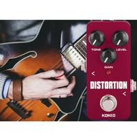 KOKKO FCP2 Portable Mini Distortion Pedal 1M Ohms 10K Ohms Effect Device Guitar Square Accessories DC adapter