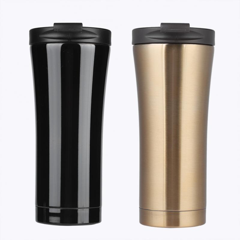 US $11 61 8% OFF|500ml Coffee Thermos Cup Stainless Steel Vacuum Insulated  Bottle for Hot/Cold Beverage for office Travel-in Vacuum Flasks & Thermoses