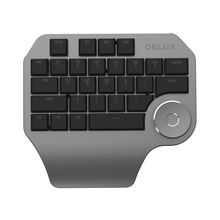 Delux T11 Designer Keyboard Keypad with Smart Dial 3 Group Customized Keys for Windows Mac OS & Design Software