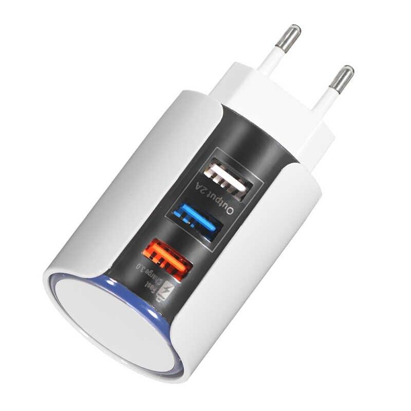 3 منافذ USB شاحن الهاتف المحمول قابش الشاحن نمط الاتحاد الاوروبي السفر الحائط مهايئ شاحن ل فون لباد ل Xiaomi الهاتف شاحن سريع