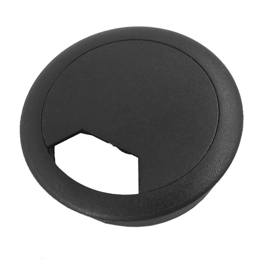 Promotion! 2 Pcs 50mm Diameter Desk Wire Cord Cable Grommets Hole Cover Black Hard Plastic