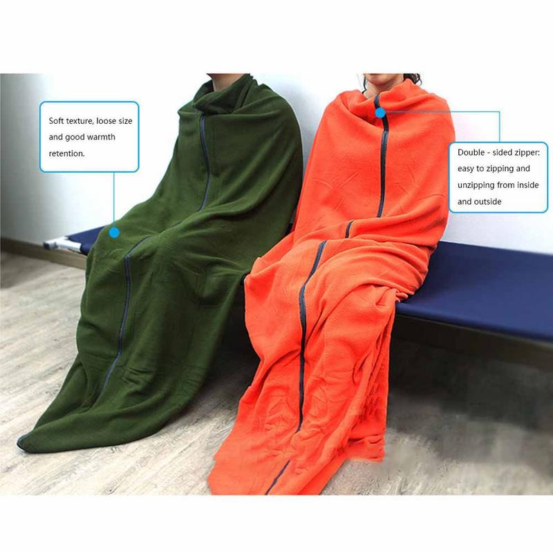 Outdoor Fleece Sleeping Bag Camping Trip Air Quilt Liner Warm 3 Season For Travel Camping Lunch Break Knee Blanket Sleeping Bags Sports & Entertainment Camp Sleeping Gear