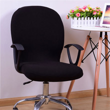 Dining Chair Cover Polyester Fiber Spandex Swivel Computer Chair Cover Stretch Office Home Spandex Armchair Protector Seat Decor(China)