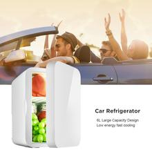 Мини-холодильник 6л 12 в автомобильный холодильник 220 В Автомобильный дом двойного назначения термоэлектрический мини-холодильник Теплее Холодильник для авто