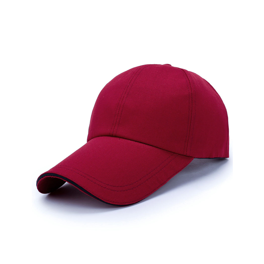 Fashion Long Visor Brim Hat Adjustable Unisex Casual Hip Hop   Caps   Outdoor Sun Hat Snapback Men Women   Baseball     Cap   Male Casquette