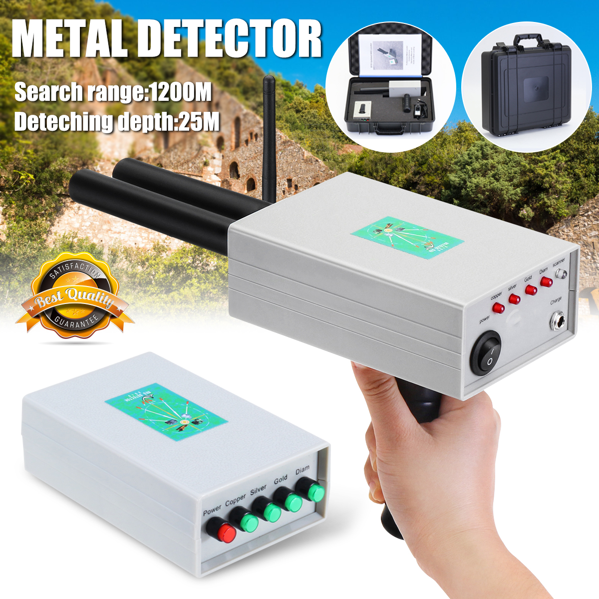 Newest Metal Detector Professtional Underground Gold Silver Detectors Treasure Hunter Tracker Seeker Metal Detector professtional md 4040 underground metal detector adjustable gold detectors treasure hunter tracker seeker metal circuit detector
