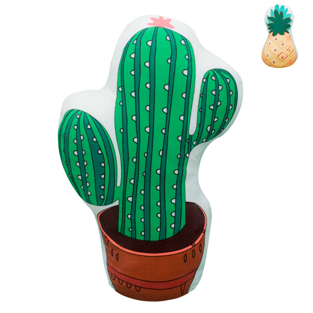 Awesome Cactus Pineapple Shaped Plush Both Sides Printing Plants Creativecarmelina Interior Chair Design Creativecarmelinacom