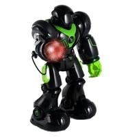 Intelligent IR RC Robot Talking Walking Shooting Light And Music Toy Fighting Sing Dance Mode Intelligent Program Toys Black