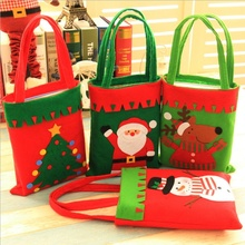 Large Christmas Xmas Santa Claus Elk Tree Snowman Hand Shopping Bags Decorations Candy Sock Gift Quality Storage Holders