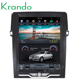 "Krando Android 8.1 12.1"" Vertical screen car multimedia player for Toyota Reiz Mark 2010-2016 GPS entertainment system radio"