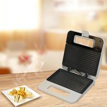 Многофункциональные электрические сэндвичницы из нержавеющей стали с антипригарным грилем, вафельница, тостер, машина для завтрака, барбекю, вилка европейского стандарта