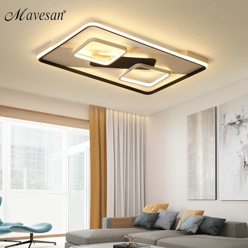 Modern Acrylic Ceiling Lights For Bedroom Support 110v And 220v Remote Control Led Surface Mount Lamps For Living Room