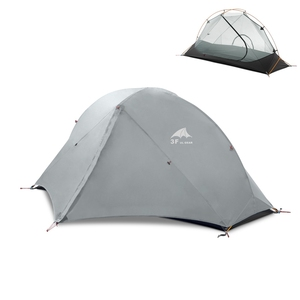 Image 2 - 3F UL Gear Camping Tent Single Person Double Layer 15D/210T Hiking Tent Waterproof 3 Season 4 Season Outdoor With Mat