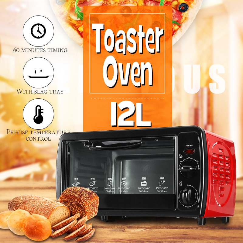 Kind-Hearted 12l Home Durable Mini Intelligent Timing Baking Home Life Kitchen Bread Toaster Electric Oven Bread Baking Machine