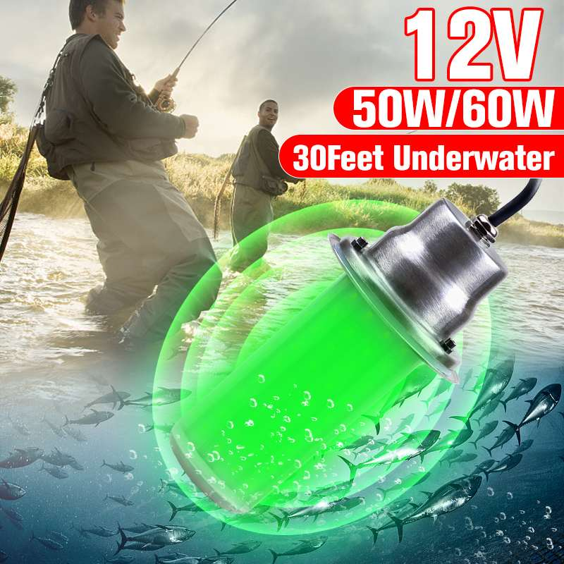 12V 50/60W 120 SMD Super Bright LED Lights IP68 Underwater Fishing Light Lures Fish Finder Lamp Attracts Prawns Squid Krill image