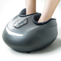 Electric Foot Massager Heated Roller Shiatsu Massage Machine Vibration Air Pressure Infrared Heating Healthy Care Massageador