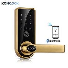 Bluetooth APP Smart Door Lock, Keyless Digital Password Touch screen Keypad DIY Left or Right Free Handle (Gateway included) недорого