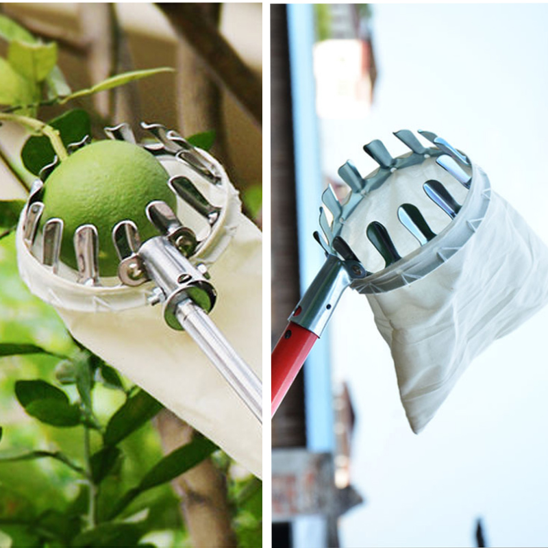 Picking-Tools Peach Fabric-Orchard Fruit Picker Gardening-Apple Metal High-Tree Convenient