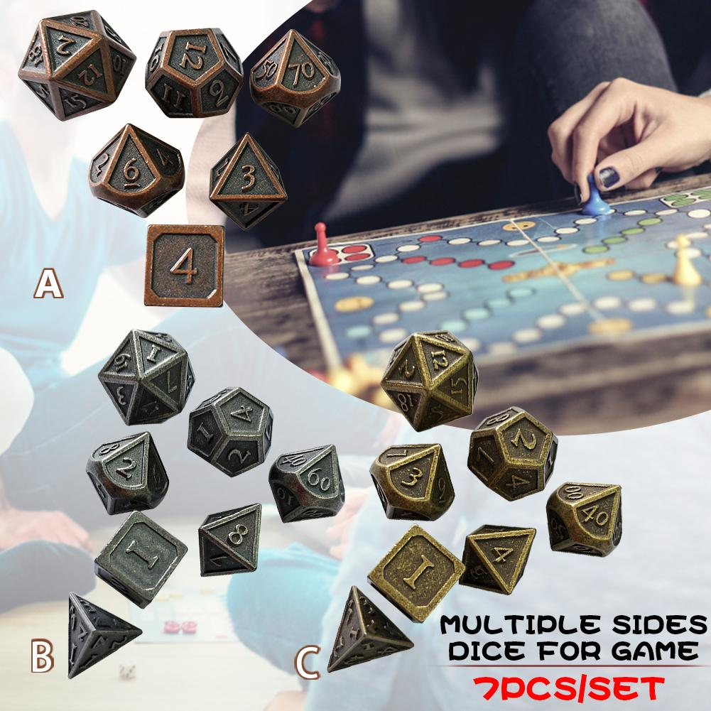 Alien Dices Tweezers 7pcs/set Innovative RPG Dices Number D&D Metal Dices For Gaming High Quality 2019 New Arrival Free Shipping