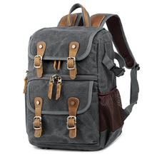 Batik Camera Bag Canvas Backpack Waterproof Multi-functional Outdoor Wear-resistant for Canon/ Sony/Nikon