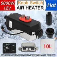 5KW 12V Diesels 4 Holes Air Parking Heater Set Vehicle Heater Fan for SUV Truck Boat Van MotorHome Exhaust Silencer Muffler Free