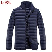 7xl duże rozmiary odzież kurtka zimowa mężczyźni znosić płaszcz z podszewką 10xl Plus 5XL 6XL 8XL 9XL Parka odzież męska gruby puchowy płaszcz