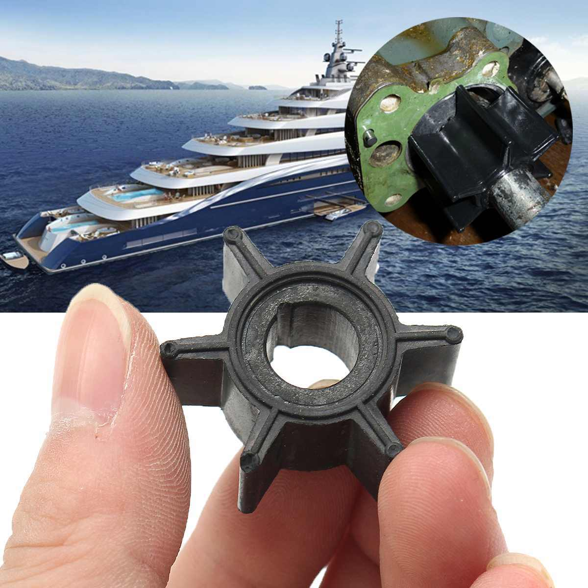 Water Pump Impeller For Tohatsu/Mercury/Sierra 2/2.5/3.5/4/5/6HP Outboard Motor Black Rubber 6 Blades Boat Parts & Accessories
