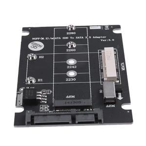 Image 4 - 2 ב 1 NGFF M.2 B + M מפתח מיני PCI E או mSATA SSD כדי SATA III מתאם כרטיס עבור מלא msata SSD/2230/2242/2260/22x80 M2