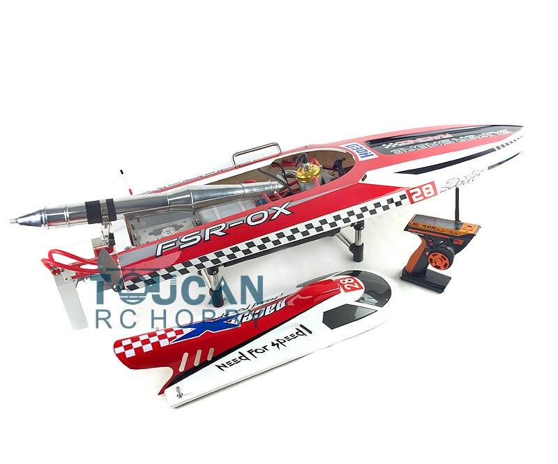 """G30H ARTR RC 54 """"30CC Motor de fibra de gasolina RC Barco de carreras con mando a distancia rojo THZH0053-in Barcos RC from Juguetes y pasatiempos    3"""
