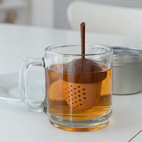 Kitchen Accessories Silicone Tea Infuser Tea Bag Strainer Herbal Filter Gadgets Acorn Shape Pakistan