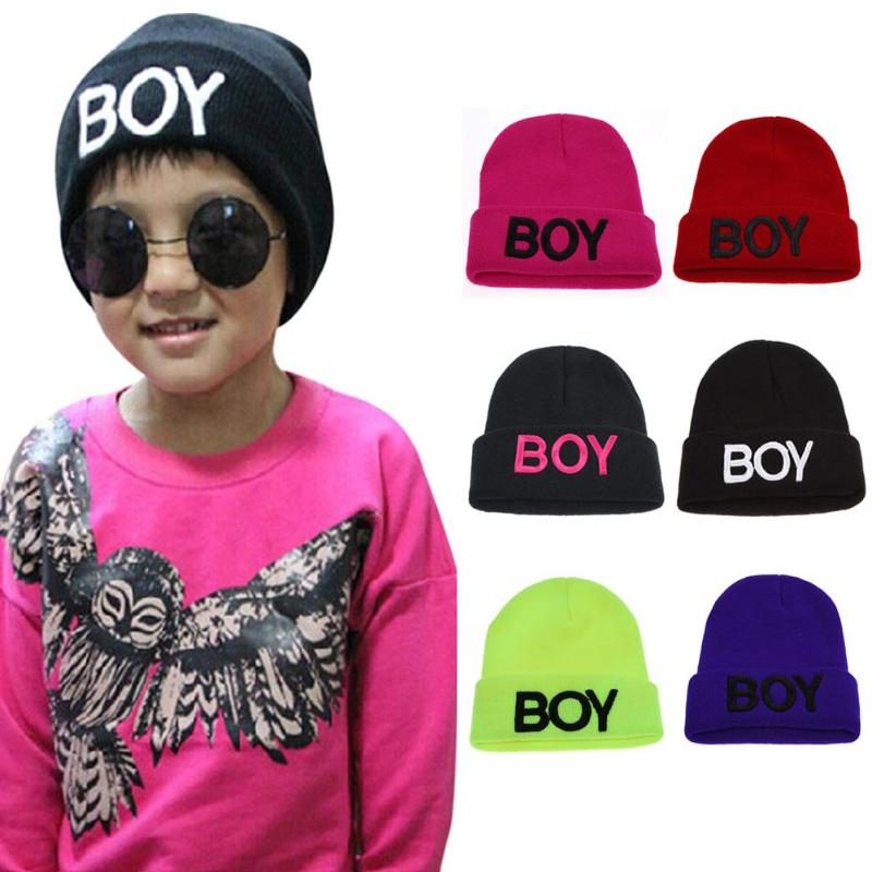6 Colors Baby Knitted Hats Toddler Ski Hats Children Cotton Letter Boy Beanie Caps For Kids Woolen Skull Hat Baby Crochet Cap A Wide Selection Of Colours And Designs