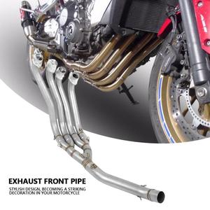 Image 1 - Motocyklowy zmodyfikowany tłumik rura wydechowa przednia rura rurka pełny układ dla Honda CB650F 2014 2015 2016 2017 2018
