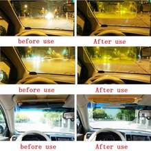 1*Universal HD UV Anti-G/lare Auto Car Sun Visor Flip Down Day/Night View Visor 300*130*1mm suitable for all small car CD board