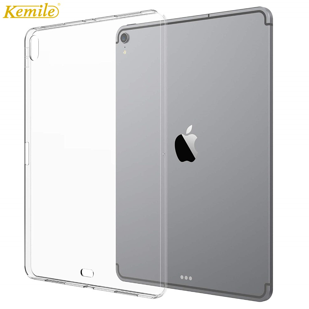 Kemile Case For IPad Pro 11 2018 Soft Skin Flexible Bumper Transparent TPU Rubber Back Cover Protector For Apple IPad 11 Case
