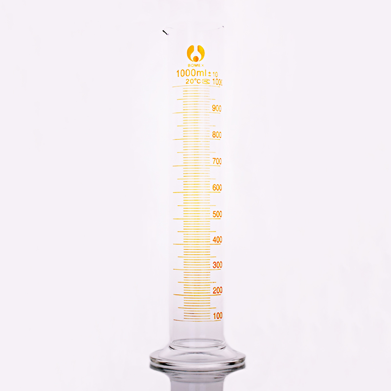 High borosilicate glass measuring cylinder,Capacity 1000ml,Graduated Glass Laboratory Cylinder