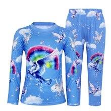 AmzBarley Toddler Kid Little Girls Unicorn Pajamas Rainbow Long Sleeve Sleepwear Cotton Printed Shirts And Pants Sets umi vena sandal toddler little kid
