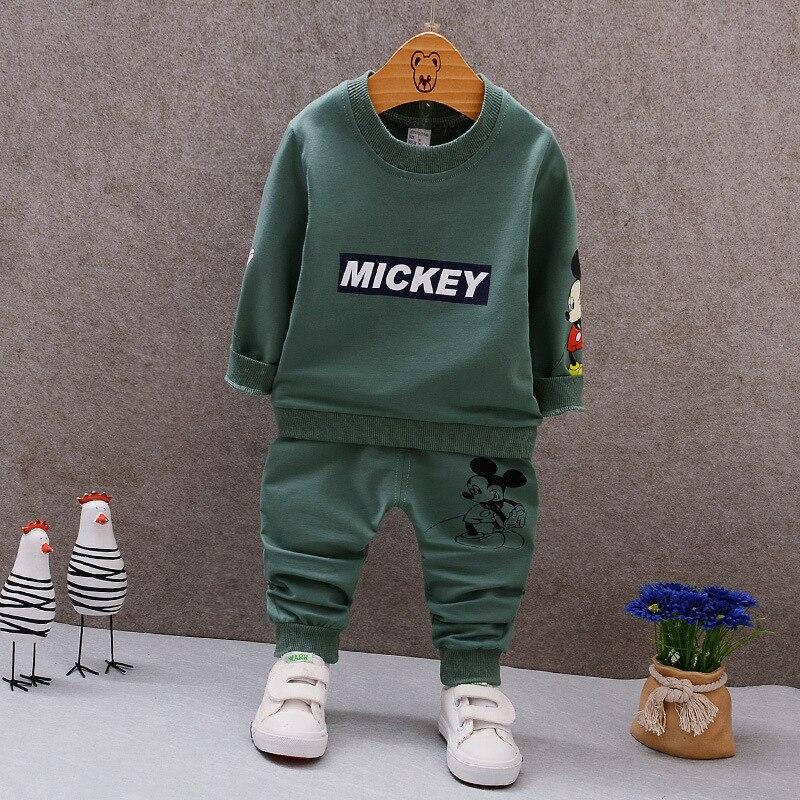 2019 Lente Baby Jongens Kleding Cartoon Casual Sport T-shirt Broek Sets Baby Katoenen Pakken Kinderkleding Peuter Trainingspakken