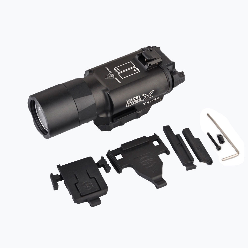 Element Airsoft Surefir X300 Ultra arme lampe de poche pistolet lanterne Softair X300U mode lumière 370 avec Picatinny Rail EX359-BK