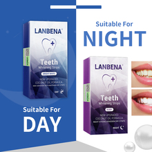 Lanbena Teeth Whitening Strips Daily Use+ Night Oral Hygiene Veneers White Removes Plaque Stains 12 Pairs Care