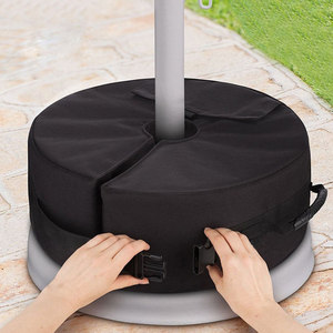Image 4 - Tent Fixed Sandbag Empty Round Patio Sunshade Umbrella Stand Gravity Base Bag Tent Accessories For Outdoor Camping Beach Party