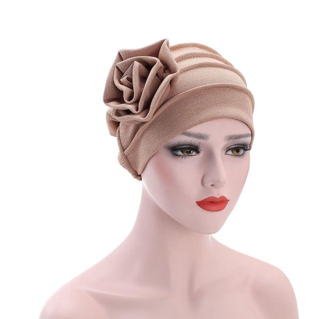 6 Color Women Side Flower Headwear Headwrap African Head wrap Twist Hair  Band Turban Bandana Bandage Hijab Accessories India Cap 45b58a691f8