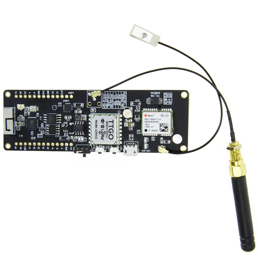 Nouveau t-beam 915 MHz ESP32 WiFi sans fil bluetooth Module ESP32 GPS NEO-M8N pour IPEX pour LORA 32 18650 support de batterie