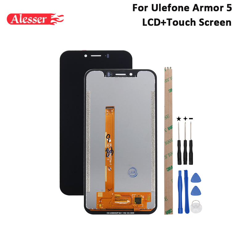 Alesser For Ulefone Armor 5 LCD Display and Touch Screen Assembly With Tools And Adhesive For Ulefone Armor 5 Phone 5.85Alesser For Ulefone Armor 5 LCD Display and Touch Screen Assembly With Tools And Adhesive For Ulefone Armor 5 Phone 5.85