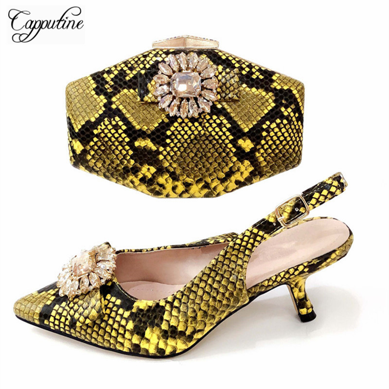 New Arrival African Rhinestones Shoes And Bag Set Italian Style Elegant High Heels Shoes And Bag Set For Wedding Dress TX-891New Arrival African Rhinestones Shoes And Bag Set Italian Style Elegant High Heels Shoes And Bag Set For Wedding Dress TX-891