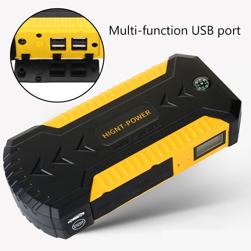 Démarreur de saut multifonction 89800 mAh 4USB 600A chargeur de batterie de voiture d'urgence Booster batterie externe dispositif de démarrage - 4