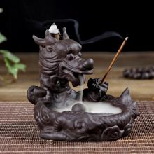 Dragon Backflow Incense Burner Smoke Waterfall Sticks Holder Ceramic Censer Aromatherapy Furnace Home Decor