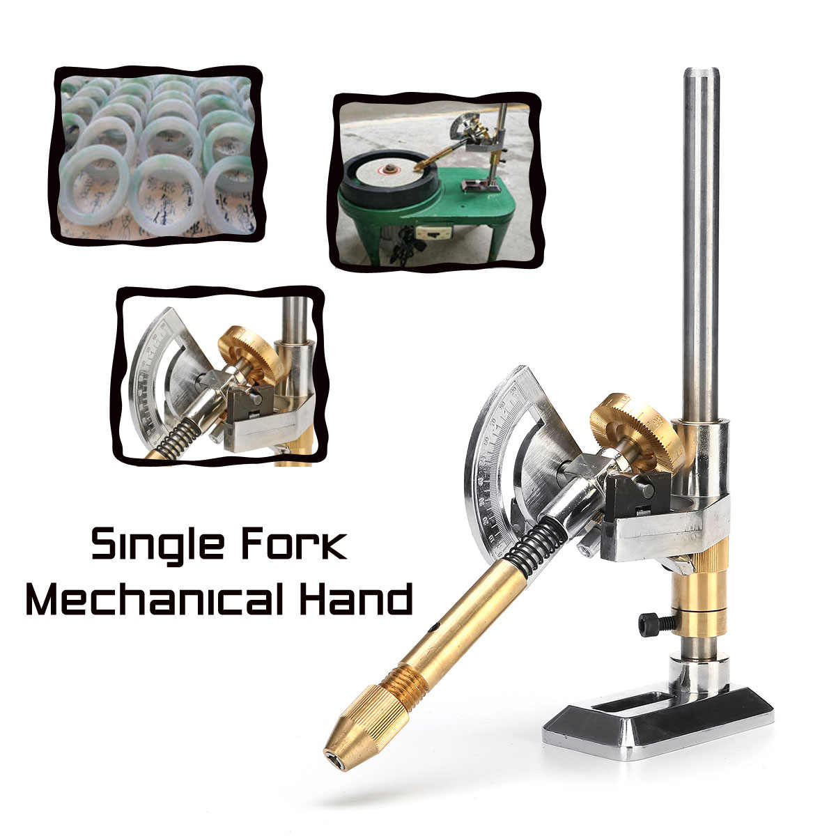 Jade Grinding Faceted Manipulator Gem Faceting Machine Jewel Angle Polisher Fork 12/24/36/48/60/72/84/96 Index Wheels Handle
